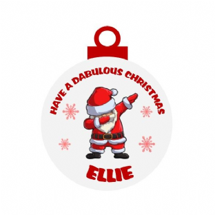 Dabbing Santa Acrylic Christmas Ornament Decoration